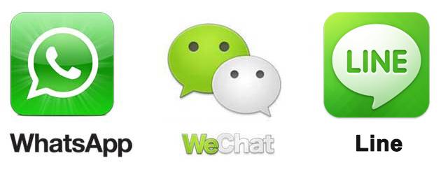 wechat-whatsapp-line