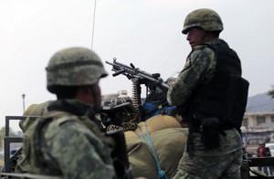 El Ejército mexicano patrulla en el estado de Guerrero, mayo 2015. Pedro Pardo/AFP/Getty Images